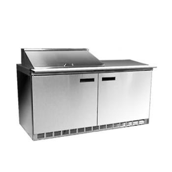 DEL4460N8 - Delfield - 4460N-8 - 2 Section 60 1/8 in Salad Top Refrigerated Base w/ Doors Product Image