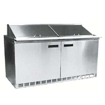 DEL4464N16 - Delfield - 4464N-16 - 2 Section 64 1/8 in Salad Top Refrigerated Base w/ Doors Product Image
