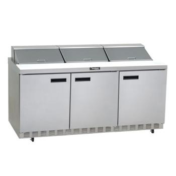DEL4472N12 - Delfield - 4472N-12 - 3 Section 72 1/8 in Salad Top Refrigerated Base w/ Doors Product Image