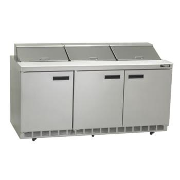DEL4472N18 - Delfield - 4472N-18 - 3 Section 72 1/8 in Salad Top Refrigerated Base w/ Doors Product Image