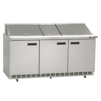 DEL4472N30M - Delfield - 4472N-30M - 3 Section 72 1/8 in Mega Top Refrigerated Base w/ Doors Product Image
