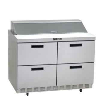 DELD4448N18M - Delfield - D4448N-18M - 2 Section 48 1/8 in Mega Top Refrigerated Base w/ Drawers Product Image