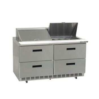 DELD4460N18M - Delfield - D4460N-18M - 2 Section 60 1/8 Mega Top Refrigerated Base w/ Drawers Product Image