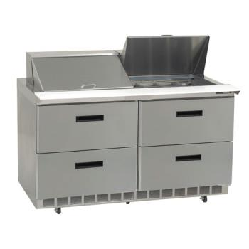 DELD4460N24M - Delfield - D4460N-24M - 2 Section 60 1/8 Mega Top Refrigerated Base w/ Drawers Product Image