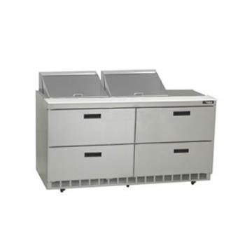 DELD4464N12 - Delfield - D4464N-12 - 2 Section 64 1/8 in Salad Top Refrigerated Base w/ Drawers Product Image
