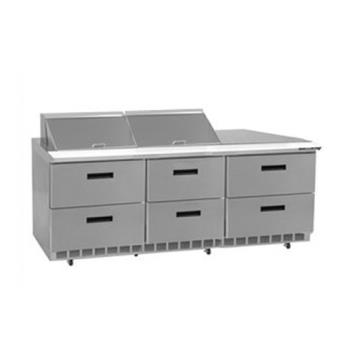 DELD4472N12 - Delfield - D4472N-12 - 3 Section 72 1/8 in Salad Top Refrigerated Base  Product Image