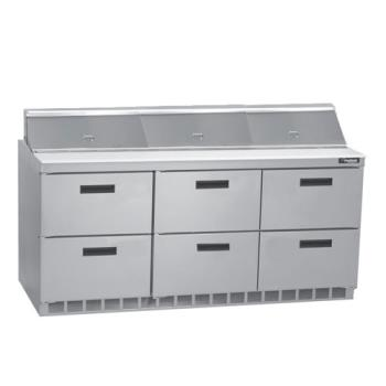 DELD4472N18 - Delfield - D4472N-18 - 3 Section 72 1/8 in Salad Top Refrigerated Base  Product Image
