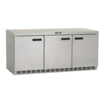DELUC4472N - Delfield - GUR72P-S - 3 Section 72 1/8 in Undercounter Refrigerated Base w/ Doors Product Image