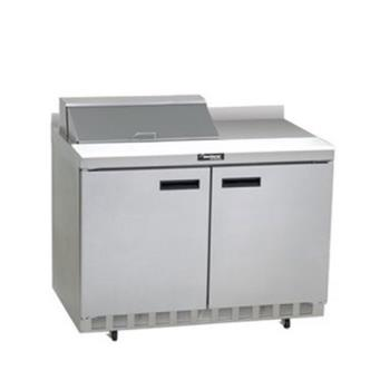 DELST4448N8 - Delfield - ST4448N-8 - 2 Section 48 1/8 in Salad Top Refrigerated Base w/ Doors Product Image