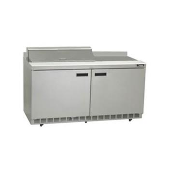 DELST4460N8 - Delfield - ST4460N-8 - 2 Section 60 1/8 Salad Top Refrigerated Base w/ Doors Product Image