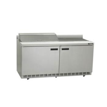 DELST4464N8 - Delfield - ST4464N-8 - 2 Section 64 1/8 in Salad Top Refrigerated Base w/ Doors Product Image
