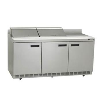 DELST4472N12 - Delfield - ST4472N-12 - 3 Section 72 1/8 in Salad Top Refrigerated Base w/ Doors Product Image