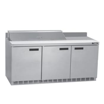DELST4472N18M - Delfield - ST4472N-18M - 3 Section 72 1/8 in Mega Top Refrigerated Base w/ Doors Product Image
