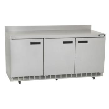 DELST4472N - Delfield - ST4472N - 3 Section 72 1/8 in Flat Top Refrigerated Base w/ Doors Product Image