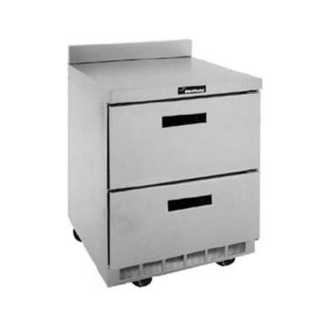 DELSTD4427N - Delfield - STD4427N - 3 Section 27 1/8 in Flat Top Refrigerated Base w/ Drawers Product Image