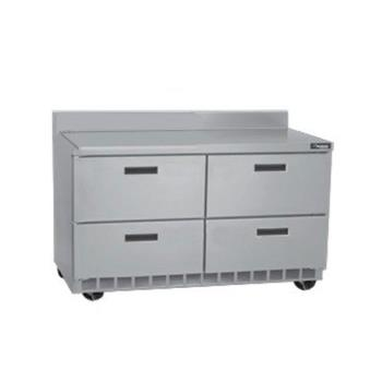 DELSTD4448N - Delfield - STD4448N - 2 Section 48 1/8 in Flat Top Refrigerated Base w/ Drawers Product Image
