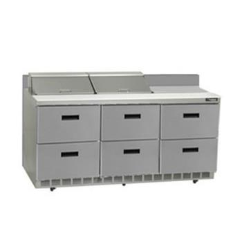 DELSTD4472N12 - Delfield - STD4472N-12 - 3 Section 72 1/8 in Salad Top Refrigerated Base Product Image
