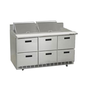 DELSTD4472N24M - Delfield - STD4472N-24M - 3 Section 72 1/8 in Mega Top Refrigerated Base  Product Image