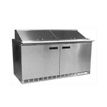 DELUC4460N12 - Delfield - UC4460N-12 - 2 Section 60 1/8 Salad Top Refrigerated Base w/ Doors Product Image