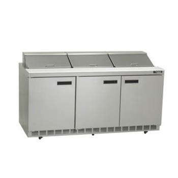 DELUCD4472N12 - Delfield - UCD4472N-12 - 3 Section 72 1/8 in Salad Top Refrigerated Base  Product Image