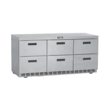 DELUCD4472N - Delfield - UCD4472N - 3 Section 72 1/8 in Undercounter Refrigerated Base  Product Image