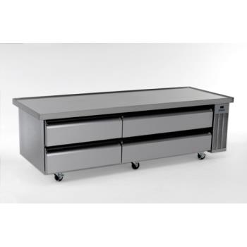 "SILSKRCB84H - Silver King - SKRCB84H/C6 - 84"" High Capacity Refrigerated Chef Base Product Image"