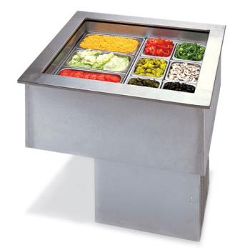 APWCW3 - APW Wyott - CW-3 - 3-Pan Drop-In Cold Food Unit Product Image