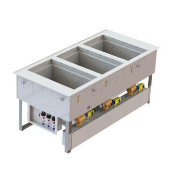 VOL3667301D - Vollrath - 3667301D - 3 Well Hot/Cold Top Mount Unit Product Image
