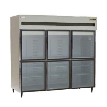 DEL6076XLGHR - Delfield - 6076XL-GHR - 3 Section 76 1/2 in Glass Door Refrigerator Product Image