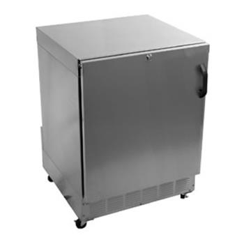 GLTUCR24SL - Glastender - UCR24S-L - Left Hinged Stainless Door Undercounter Refrigerator Product Image