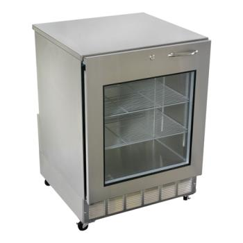 GLTUCR24XL - Glastender - UCR24X-L - Left Hinged Glass Door Undercounter Refrigerator Product Image