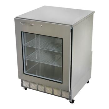 GLTUCR24XR - Glastender - UCR24X-R - Right Hinged Glass Door Undercounter Refrigerator Product Image