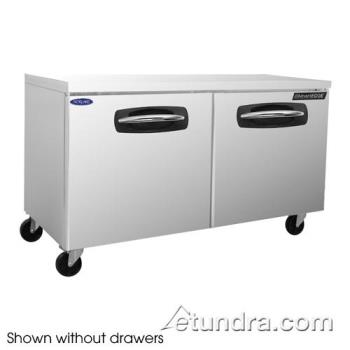 NORNLUR60002 - Nor-Lake - NLUR60A-002 - AdvantEDGE 2 Drawer 60 in Undercounter Refrigerator w/Left Door Product Image