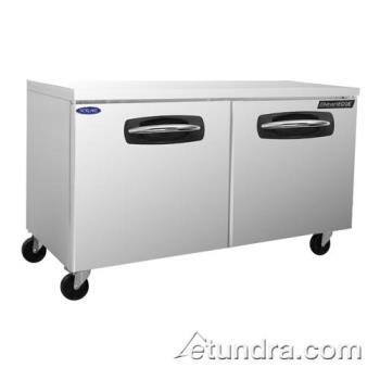 NORNLUR60 - Nor-Lake - NLUR60A - AdvantEDGE 2 Door 60 in Undercounter Refrigerator Product Image