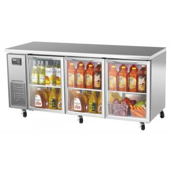 TURJUR72GN - Turbo Air - JUR-72-G-N - J Series 72 in Glass Door Undercounter Refrigerator Product Image