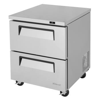 TURTUR28SDD2N - Turbo Air - TUR-28SD-D2-N - 28 in 2-Drawer Undercounter Refrigerator Product Image
