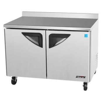 TURTWR48SD - Turbo Air - TWR-48SD - Super Deluxe 2 Door 48 in Worktop Refrigerator Product Image