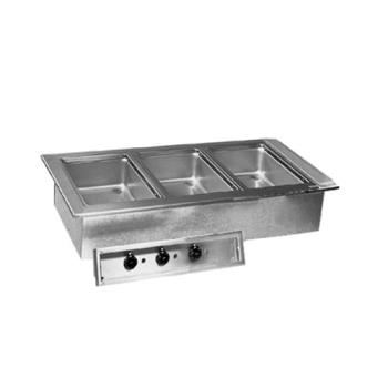 DELN8745D - Delfield - N8745-D - 3 Pan 45 5/8 in Drop-In Heated Electric Food Well Product Image
