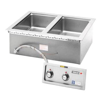 WELMOD200TDMN - Wells - MOD200TDMN - Built-In Narrow (2) Pan Warmer w/ Manifold Product Image