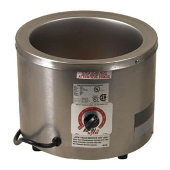 62407 - APW Wyott - RW1V - 120V 7 Qt Round Countertop Food Warmer Product Image