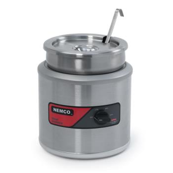 62439 - Nemco - 6100A - 7 Qt Round Countertop Food Warmer Product Image
