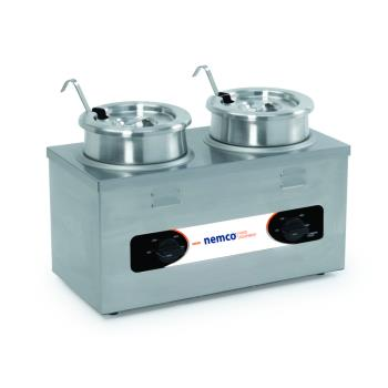 NEM6120ACW - Nemco - 6120A-CW - 4 Qt Twin Well Countertop Food Cooker/Warmer Product Image