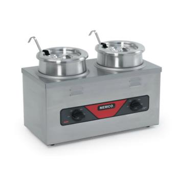 NEM6120ACW - Nemco - 6120A-CW - 4 Qt Twin Well Countertop Food Warmer Product Image