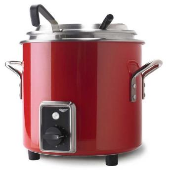 VOL7217755 - Vollrath - 7217755 - 7 qt Fire Engine Red Stock Pot Kettle Rethermalizer Product Image