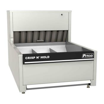 PITPCC18 - Pitco - PCC-18 - Crisp 'N Hold 3 Section Countertop Crispy Food Station Product Image