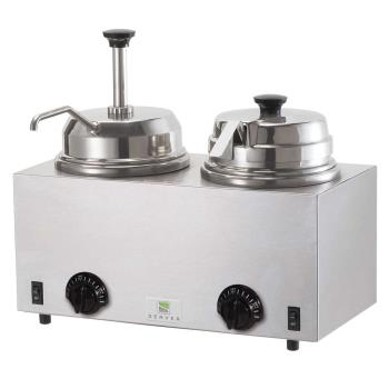 SVP81290 - Server - 81290 - Twin Topping Warmer w/Pump & Lid/Ladle Product Image