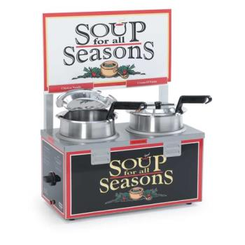 NEM6510A2D4 - Nemco - 6510A-2D4 - Twin 4 Qt. Well Soup Merchandiser Product Image