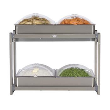 CDOCMLB24P - Cadco - CMLB-24P - Multi Level Buffet Server With Clear Lids Product Image