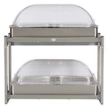 CDOCMLB24RT - Cadco - CMLB-24RT - Multi Level Buffet Server With Clear Rolltop Lids Product Image