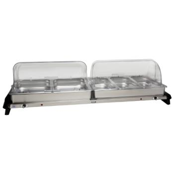 CDOWTBS5RT - Cadco - WTBS-5RT - Grand Buffet Server with Clear Rolltop Lids Product Image
